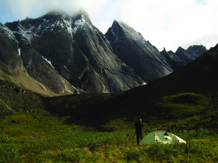 Camping in the Valley of Aquarius in Alaska.