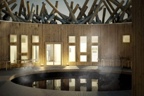 The spa treatment room of the Arctic Bath Hotel in Lappland, Sweden