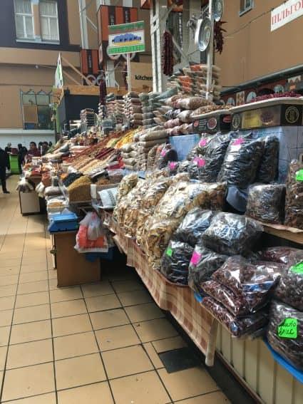 Besarabsky Market in Kiev, Ukraine.