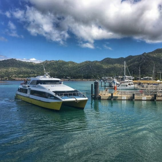 The Ferry to Magnetic Island departs from Nelly Bay.