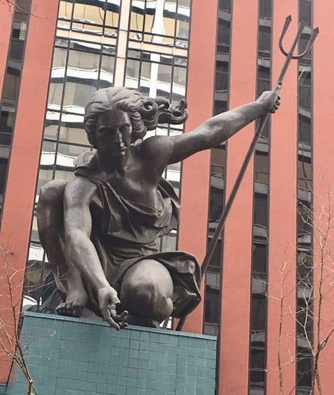 The 85 foot high copper Portlandia statue, that you won't see in local gift shops.