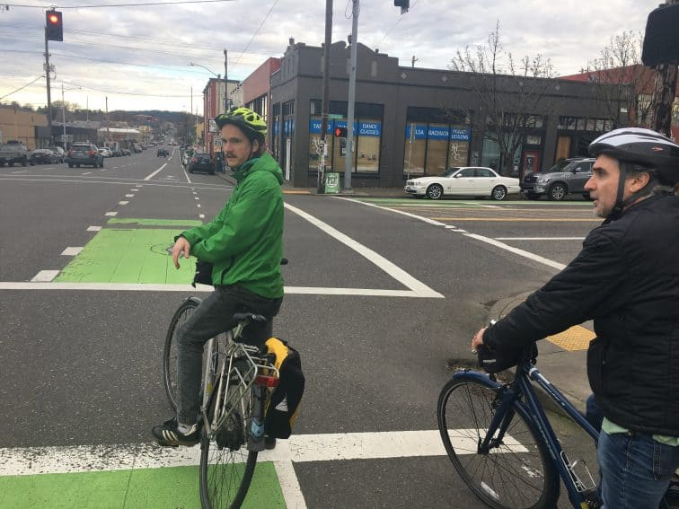 Biking is a serious business in Portland, where many people use their bikes to commute, more than any other major US city.