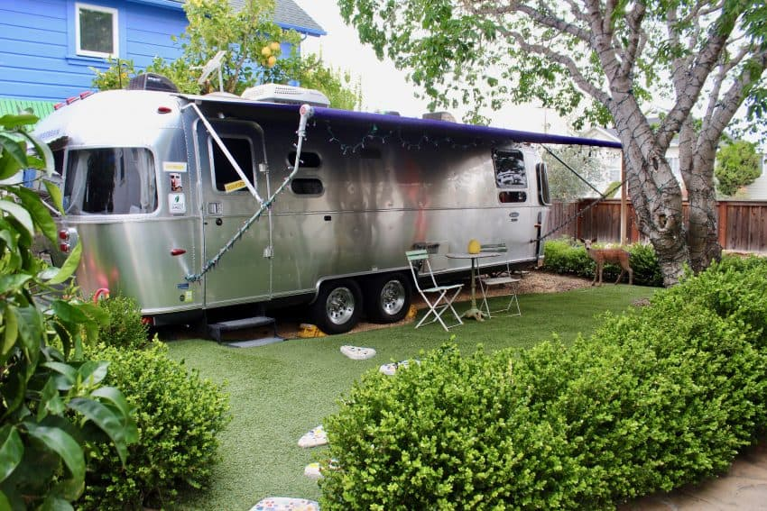 This classic Airstream will set you back 100s of thousands but there is plenty of room for your pets.