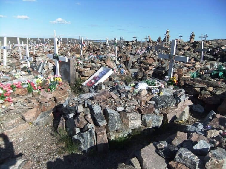 A graveyard in Naujaat, Nunavut. Photo from Max Johnson. | GoNOMAD Travel