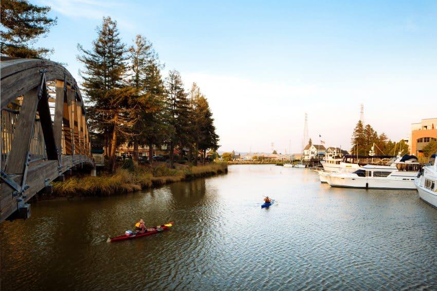 Kayaking in beautiful Petaluma, California. Kurt Jacobson photos.