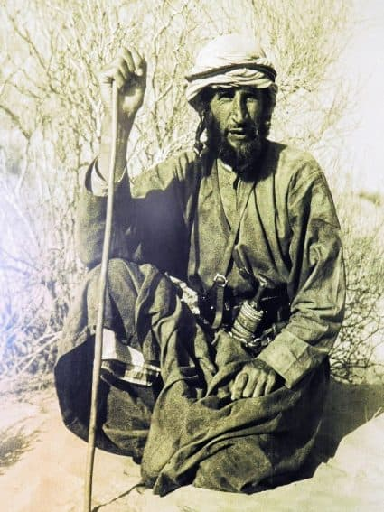 Photo of British explorer Wilfred Thesiger at Al Ain Fort Jahili. | GoNOMAD Travel