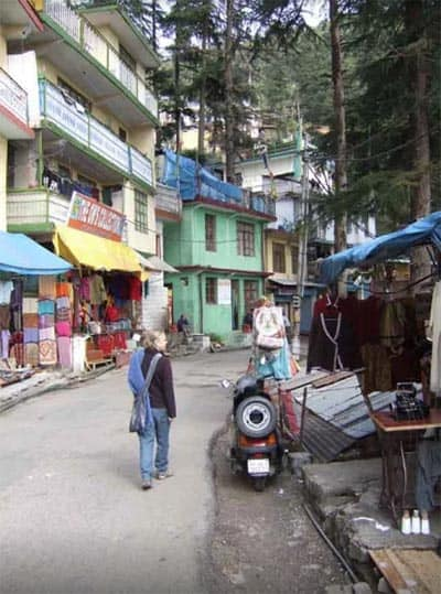 Walking the streets of McLeod Ganj, India.