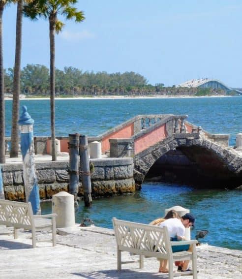Vizcaya Gardens waterfront.
