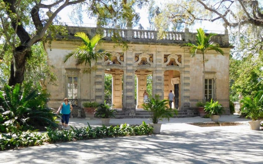 The entrance to Miami's Vizcaya.