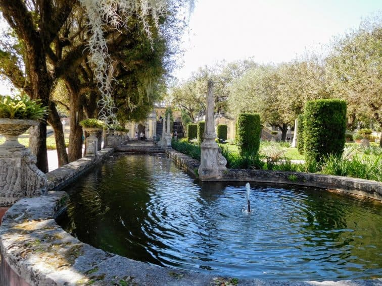Vizcaya's beautiful gardens, blooming all year long.