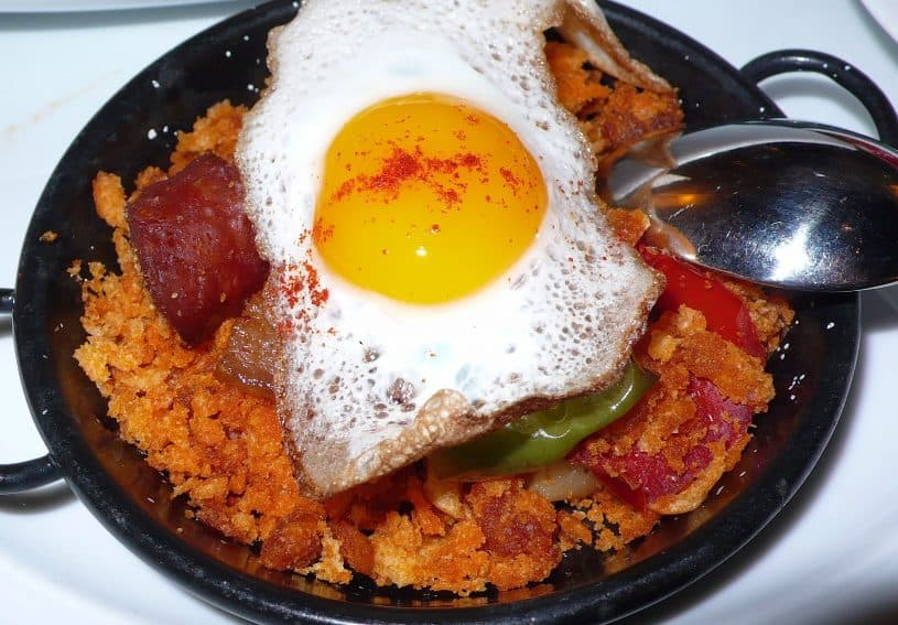 Paprika adds zest to the traditional Spanish dish of migas.
