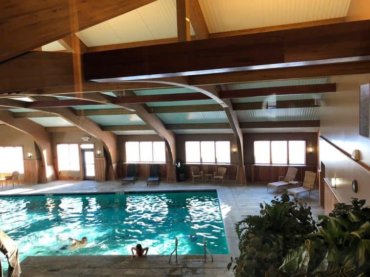 The pool at the fitness center at the Trapp Family Lodge in Stowe.