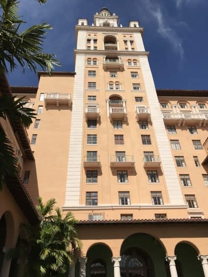 The grand and elegant Biltmore Hotel, Miami.