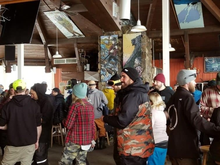 Apres Ski! At the bar Waterville Valley New Hampshire.