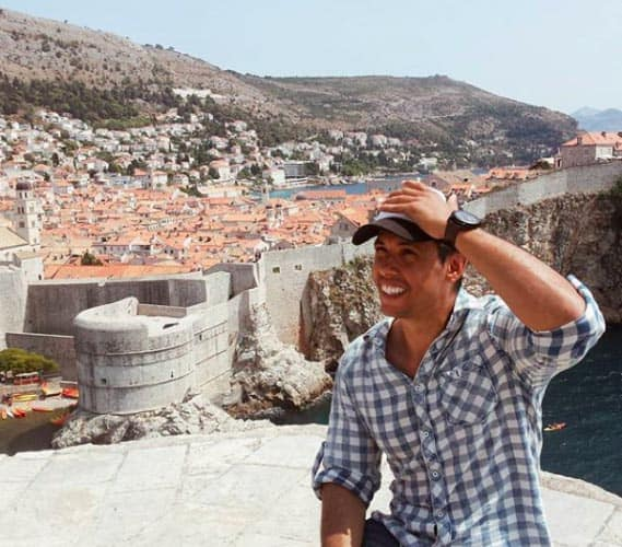"Thomas in Dubrovnik, Croatia during his road trip through Europe. It is well-known as King's Landing, the main filming location for ""Game of Thrones."" Photo from Thomas. 