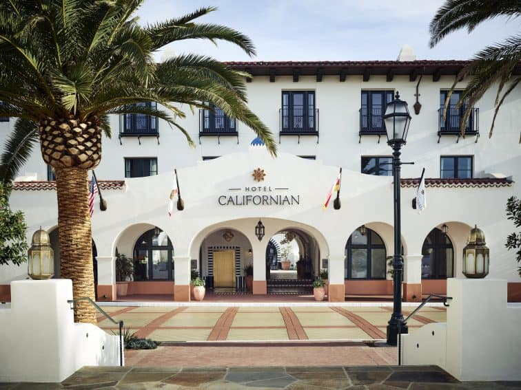 Hotel Californian is a new stylish resort featuring Spanish Colonial Revival architecture. Courtesy of Hotel Californian/Visit Santa Barbara.