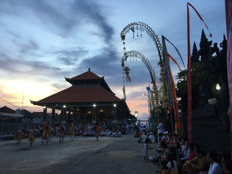 Villagers gather for sunset ahead of the Nyepi celebration in Nusa Penida, Bali. Jackie Cohen Photo | GoNOMAD Travel