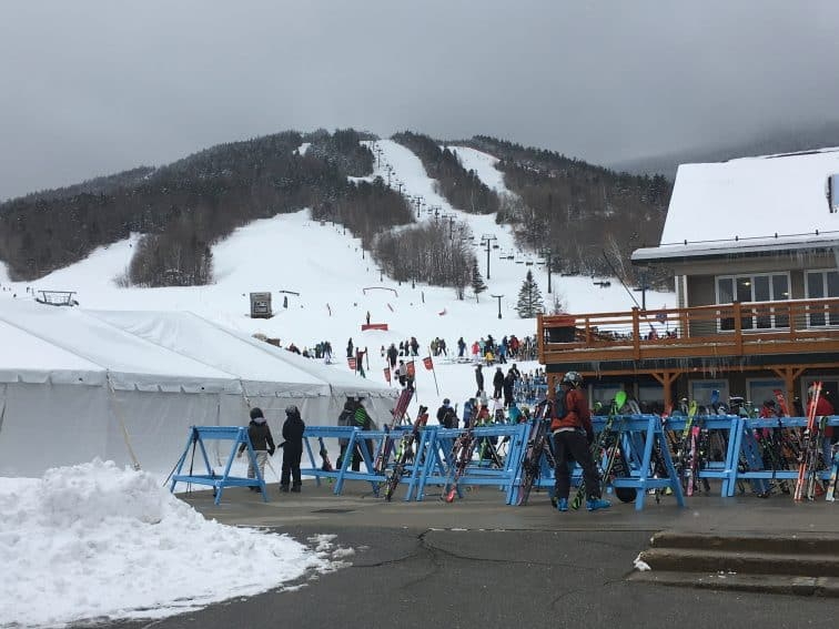 A March weekday at Waterville Valley Resort in New Hampshire. Max Hartshorne photos.