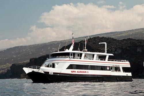 The Kona Aggressor II is a liveaboard perfect for a diving trip in Hawaii.
