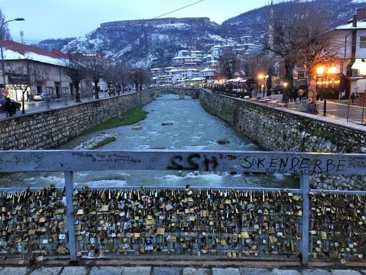 Kosovo - The Bridge of Love in Prizren.