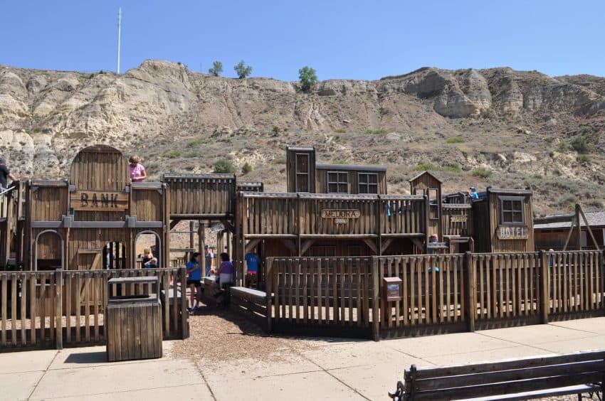 Medora's big playground will have your kids occupied for a long time! | GoNOMAD Travel