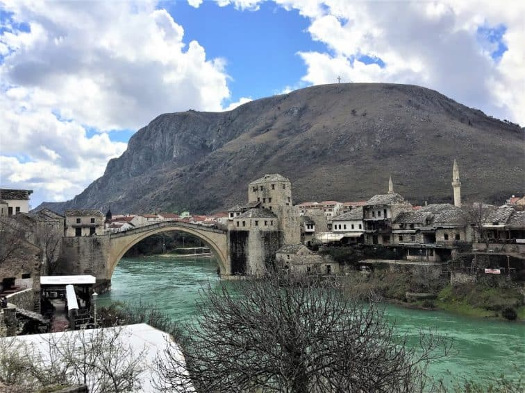 The Old Bridge, Mostar, Sarajevo, in the Balkans
