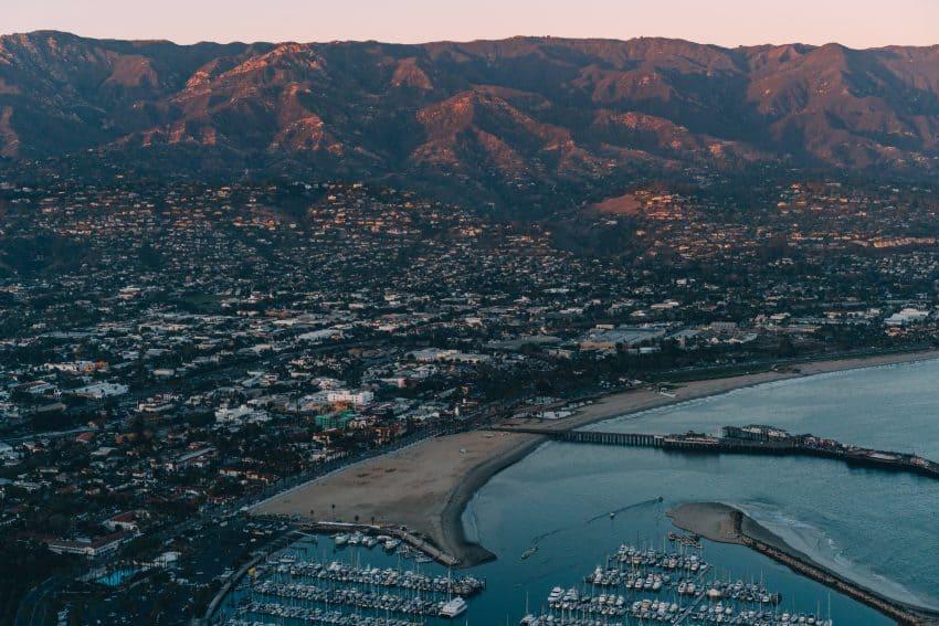 The harbor at Santa Monica California.
