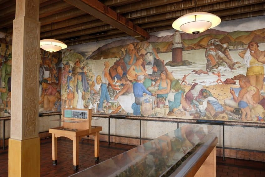Restored murals tell the story of San Francisco.