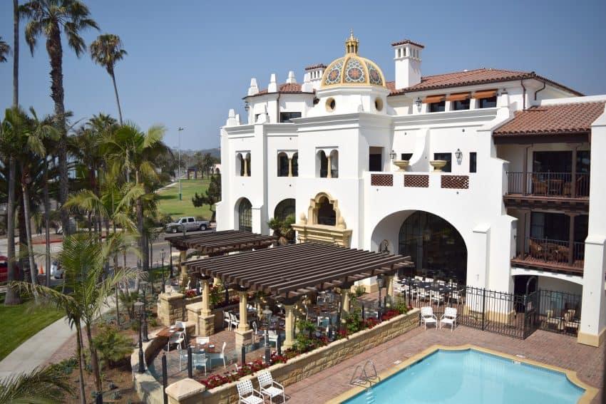 Exterior of the Santa Barbara Inn. Photo by JessyLynn Perkins, Courtesy of Visit Santa Barbara.