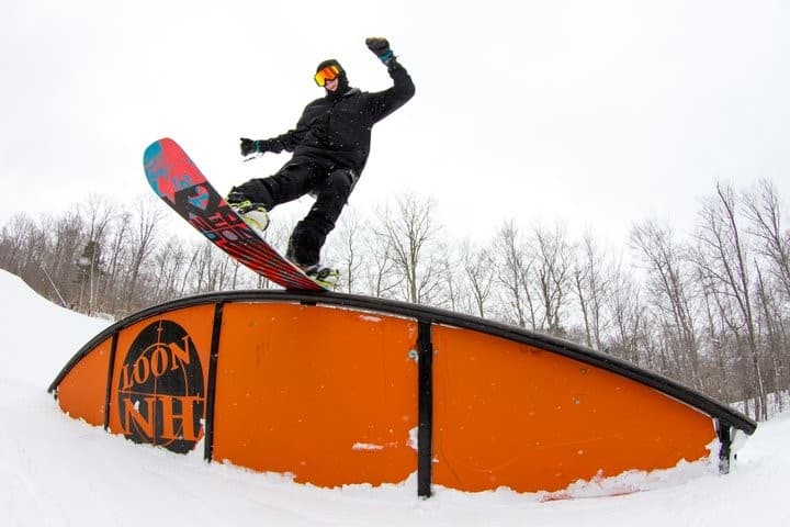 Jumping at Loon Mountain New Hampshire.