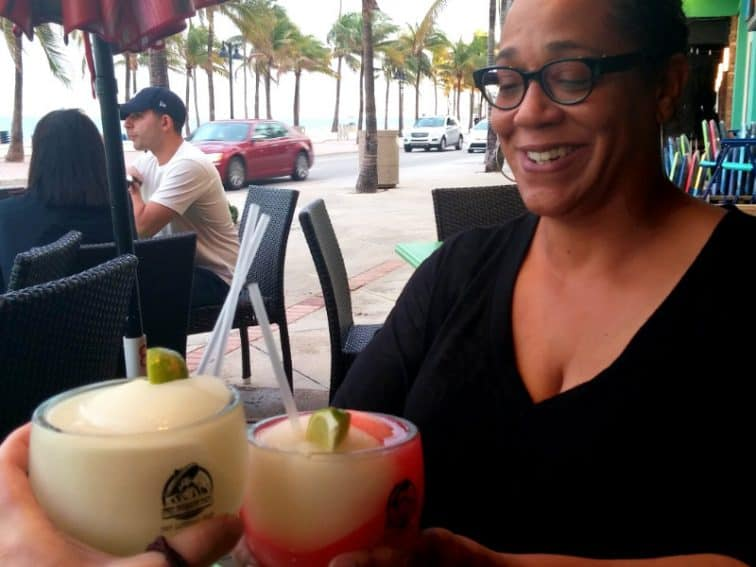 Beachfront spring-break cocktails at The Drunken Taco in Fort Lauderdale, Florida with Pascale. | GoNOMAD Travel
