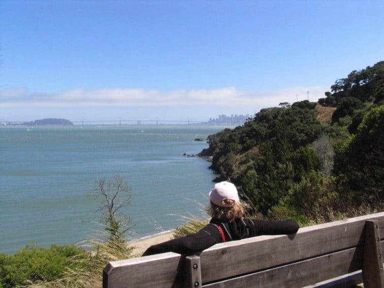 Taking a break on Angel Island, often called The jewel of San Francisco Bay.