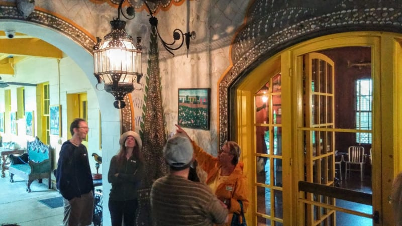 People touring the inside the fascinating Bonnett House in Fort Lauderdale on Florida's Gold Coast. | GoNOMAD Travel