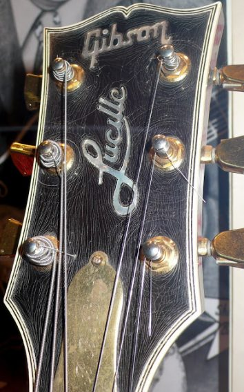 The museum explains why B.B. King named his guitar Lucille.