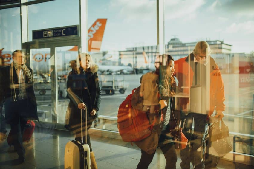 Get a jump ahead on lines at the airport. Photo from Pexels.