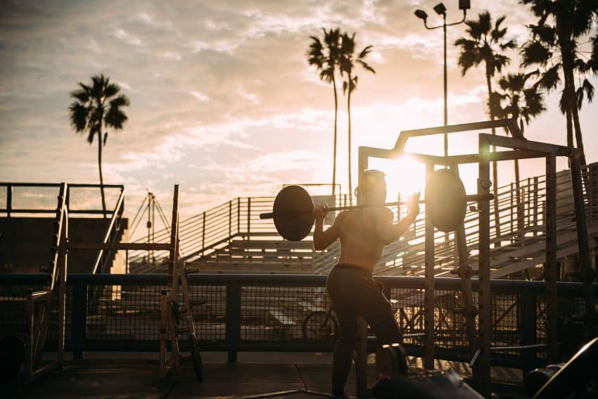Bonus points if you can find an outdoor gym on vacation. Photo from Pexels.