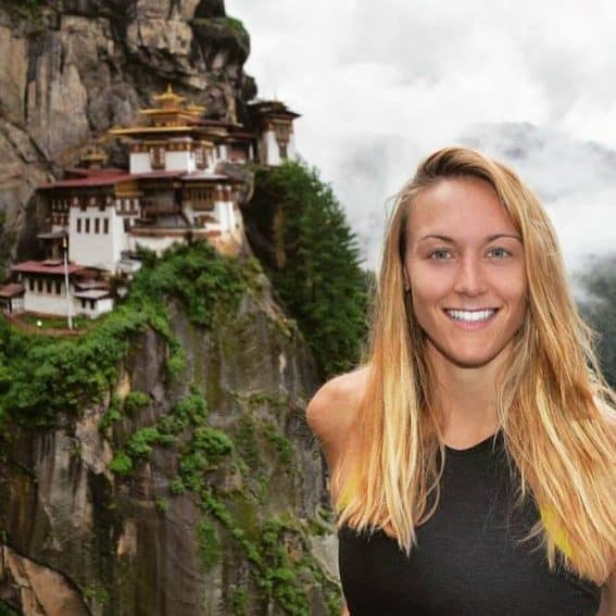 Cassie de Pecol, world traveler, world-class athlete. Photo: Cassie de Pecol