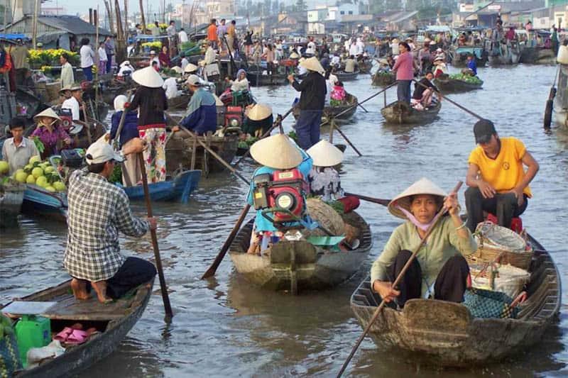 Mekong River floating Market.