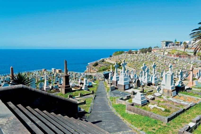 Waverley Cemetery in the Bondi to Coogee walk, Sydney, Australia.