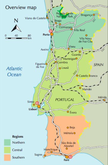 Map of Portugal   GoNOMAD Travel