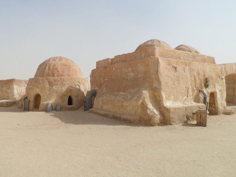"Tunisian huts in the Sahara Desert which were featured in ""Star Wars"". Photo from Pixabay."