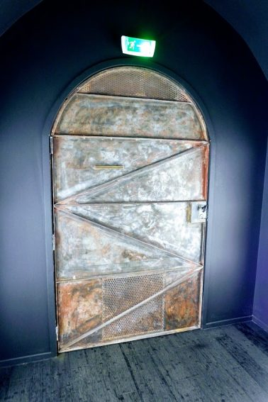 The mysterious steel door at the Golden Promise.