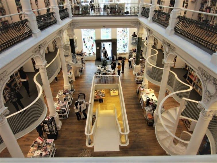 Carturesti Carusel, the eye-catching multi-level bookstore in Bucharest, Romania. NR Venkatesh photos.