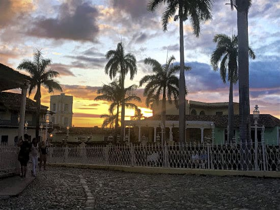Sunset in the town square in Trinidad, Cuba | GoNOMAD Travel