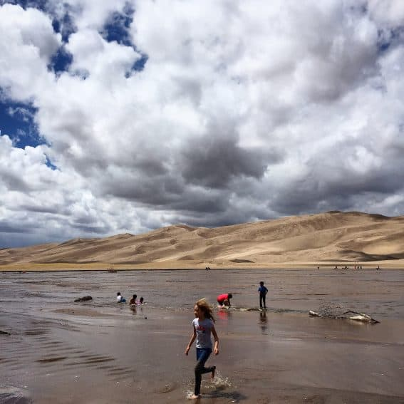 The Great Sand Dunes National Park has 26 square miles of sandy dunes.