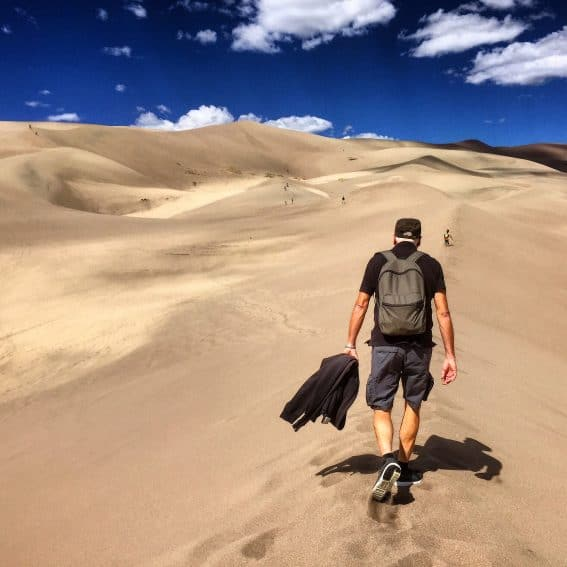 Great Sand Dunes National Park, Southern Colorado.