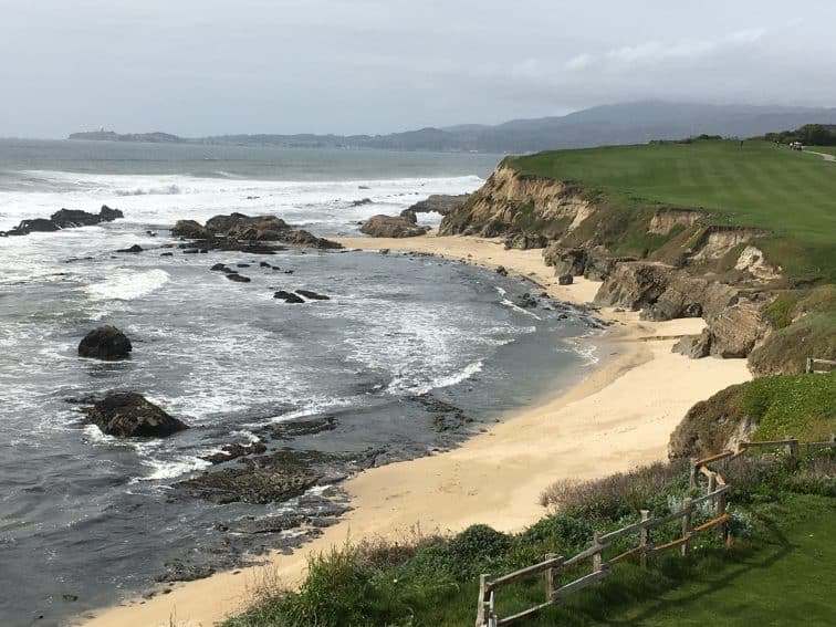 The view of the Pacific ocean from the Ritz-Carlton Half Moon Bay, in San Mateo County, California. Max Hartshorne photos. | GoNOMAD Travel