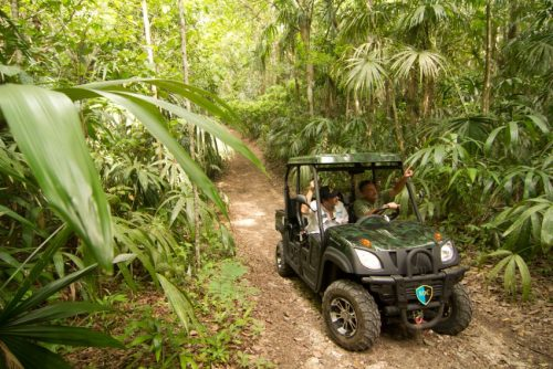 An ATV tour through the jungle at Las Lagunas Boutique Hotel in Flores, Guatemala