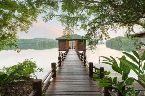 The relaxing eco-resort of Las Lagunas in Flores, Guatemala