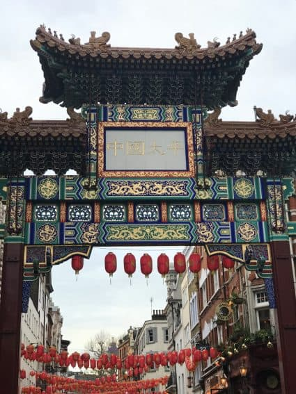 London's own China Town--great vegan food available there.